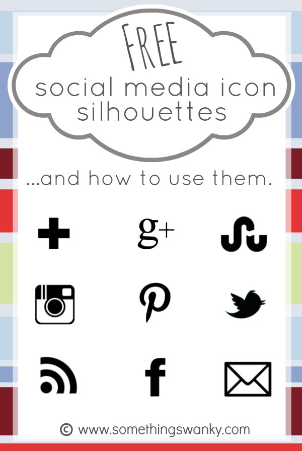 Free Social Media Icon Silhouettes and How to Use Them | www.somethingswanky.com