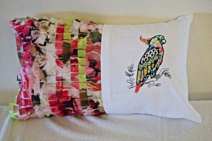 Tropical Throw Pillow Colorful mult color Maccaw by ShariSeamsSewFine on Etsy