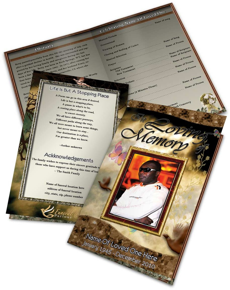 43 best images about obituary template on pinterest program