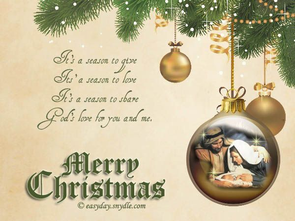 Religious Christmas Greetings | Religious Christmas Cards