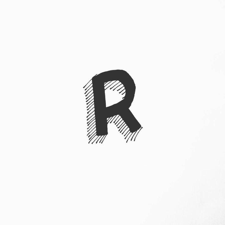 "BEMBUREDA   Design Co. (@bembureda) su Instagram: ""#R like Monday #roll #mycalligraphy #doodling #working #letters #type #sign #pen #lettering #repeat…"""