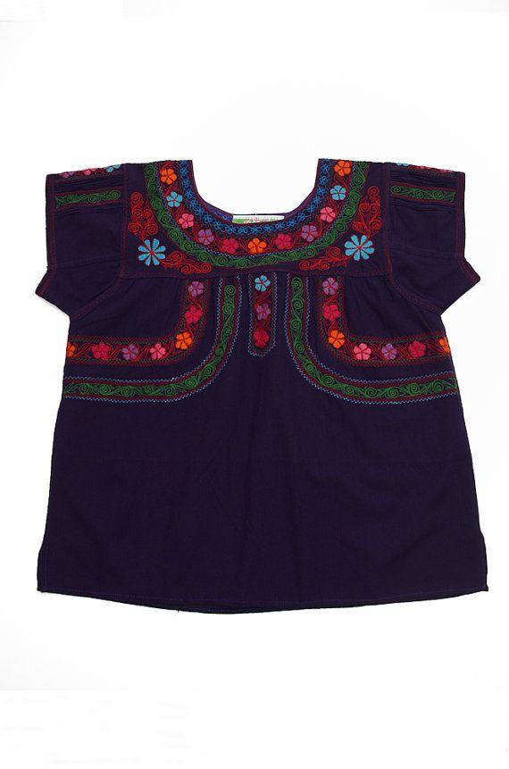 Handmade and Hand Embroidered Purple Angula Blouse via Etsy