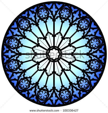 Gothic Rose Window/Illustration - 100336427 : Shutterstock