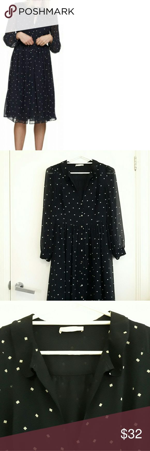 Selling this Whistles Square Spot Midi Dress on Poshmark! My username is: rikkiewinner. #shopmycloset #poshmark #fashion #shopping #style #forsale #Whistles #Dresses & Skirts