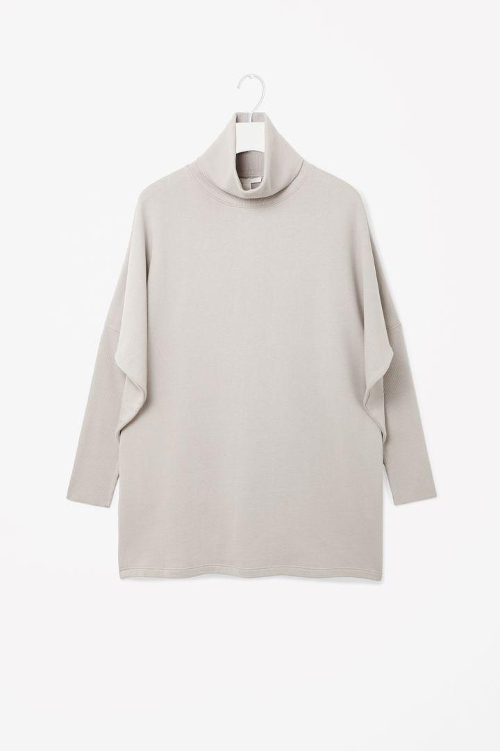 Roll-neck sweatshirt