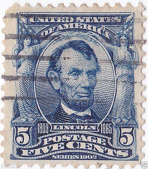 Abraham Lincoln 1902-1903 Michel:US 142A, Scott:US 304, Yt:US 148