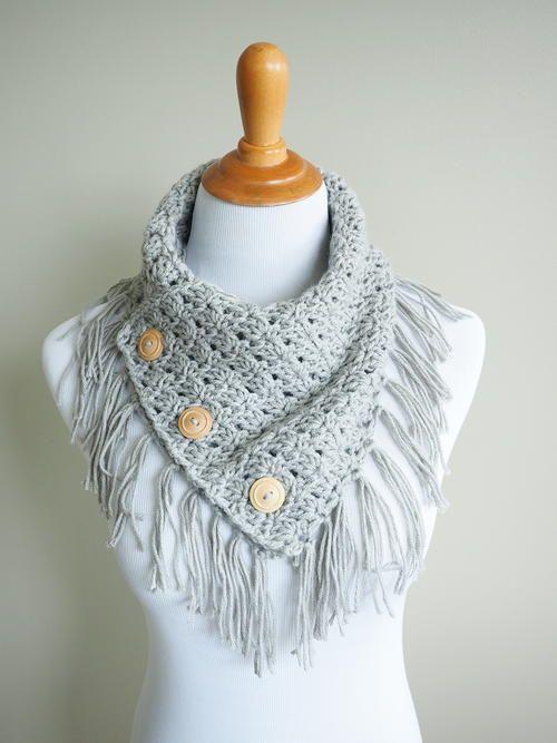 Easy Breezy Buttoned Cowl Crochet Pattern | Crochet | Pinterest ...