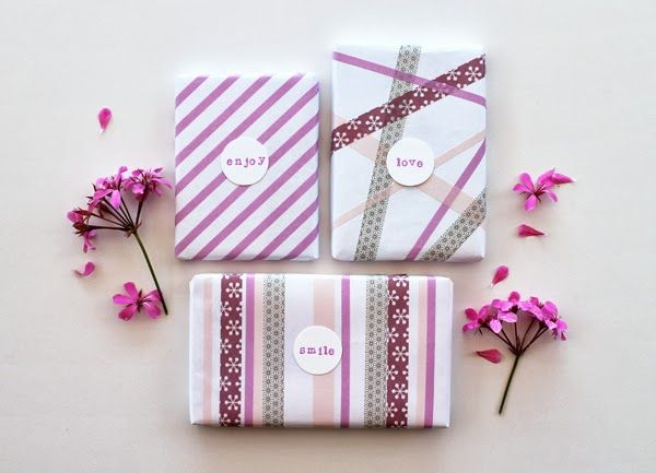 giochi di carta: Wrapping ideas with washi tapes and... :)