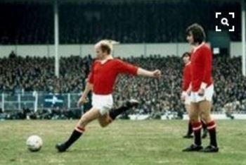Manchester United's Bobby Charlton and George Best, 1972