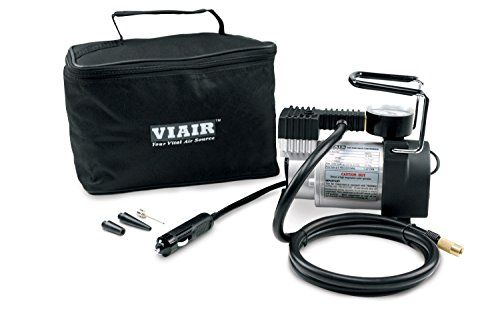 Viair 00073 70P Heavy Duty Portable Compressor - The 70P is a smaller portable compressor capable of inflating up to 225/65/R18 tires. Plug into your 15 ampere rated power port, connecting to a valve stem and turn the unit on. Tire pressure is monitored using the gauge mounted on top of the unit, by temporarily switching the unit off.