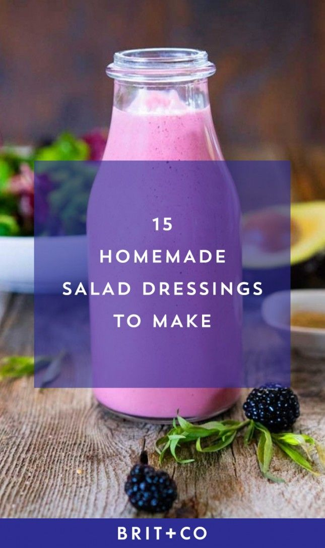 Bookmark this to make yummy + easy salad dressings this spring.