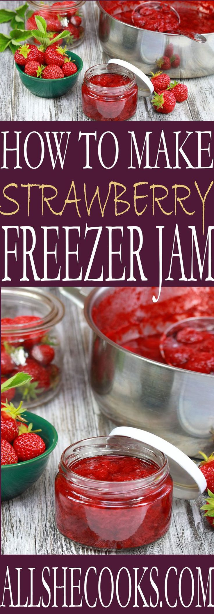 Learn how to make freezer strawberry jam at home. This is an easy recipe flavorful sweet strawberry jam recipe.