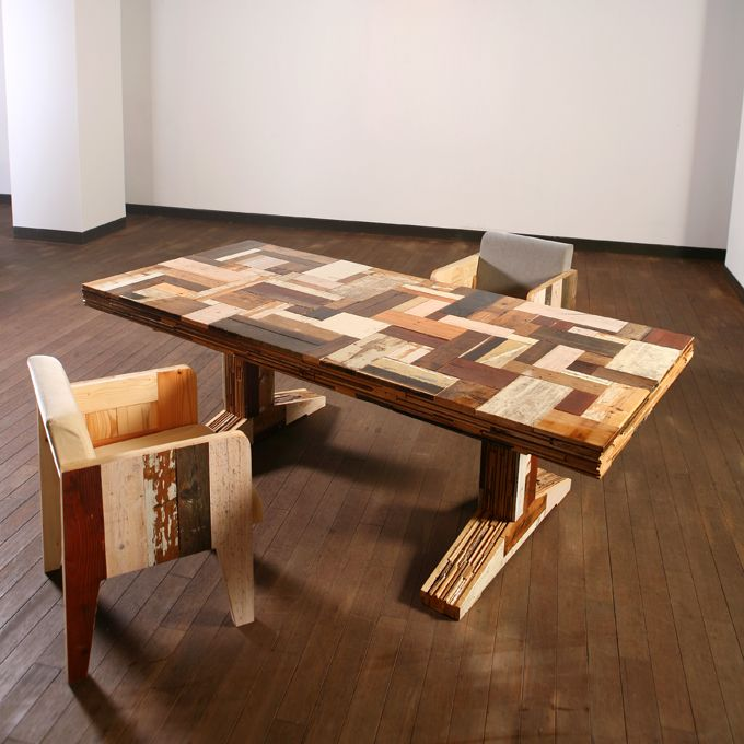 Scrap Wood Table And Chairs | Furniture | Pinterest | Wood Table, Scrap And  Woods