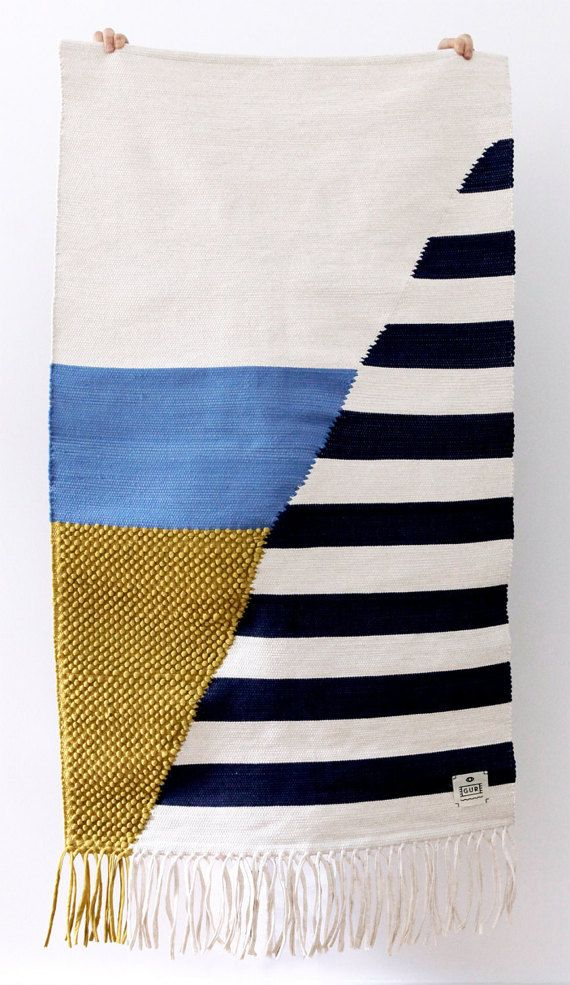 Rug by GUR TOLDO Art by Lafuga by RUGbyGUR on Etsy