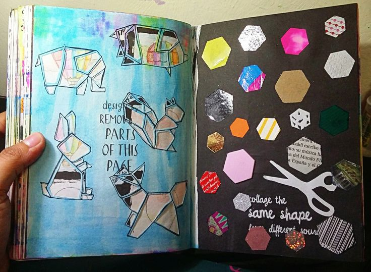 """Anti Journal """"Collage the same shape from different sourfaces"""" David Sinden; Nikalas Catlow #AntiJournal #ArtJournal"""