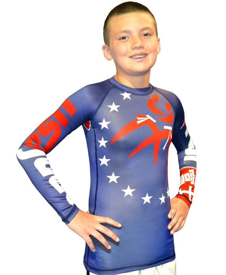 FUJI Sports Kids USA Judo Jiu Jitsu Rashguard