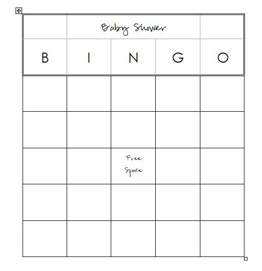 Lauras Crafty Life: Free Baby Shower Printables Bingo Game