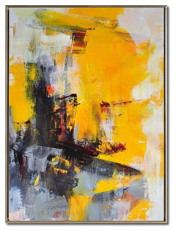 Palette Knife Painting Huge Abstract Canvas Art by CelineZiangArt