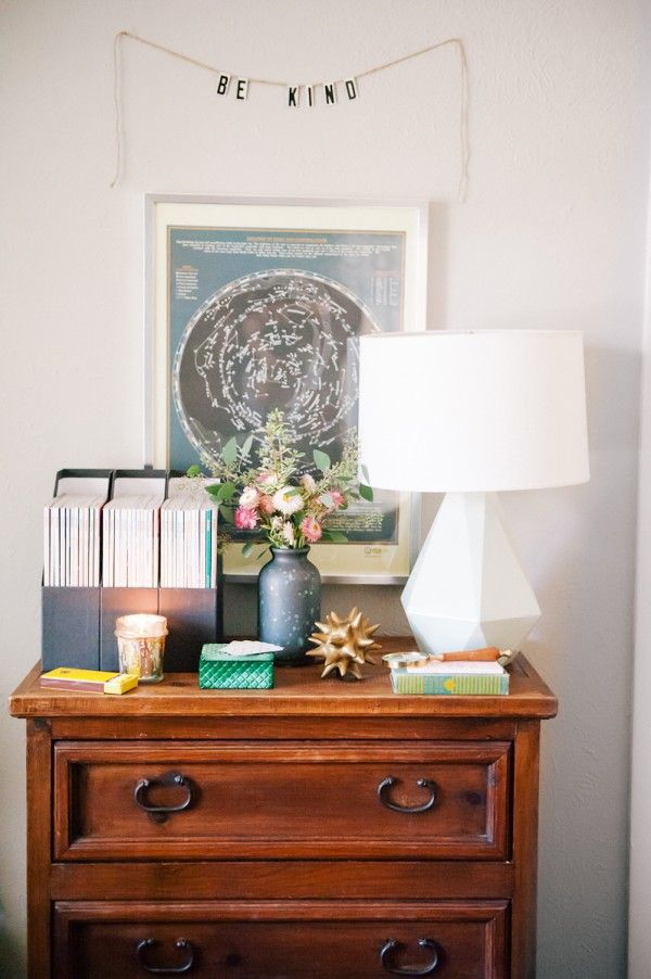 Delta Table Lamp by Robert Abbey, as seen in Modern Eve's office makeover!Theglitterguide Com, Katy Anderson, File Folder, Be Kind, Modern Eve, Offices Tours, Glitter Guide, Magazines Organic, Constellations Maps