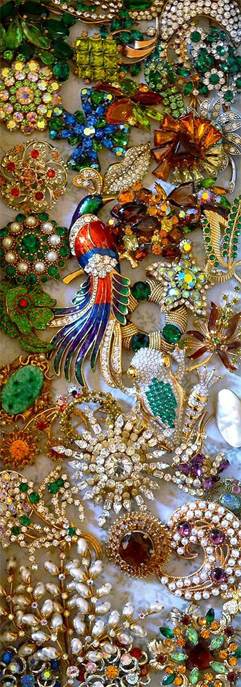 A Treasure Trove of Vintage Jewellery - a glimpse into a private collection of necklaces, pendants, earrings, brooches, and more from the 17th-20th centuries #jewellery                                                                                                                                                                                 More
