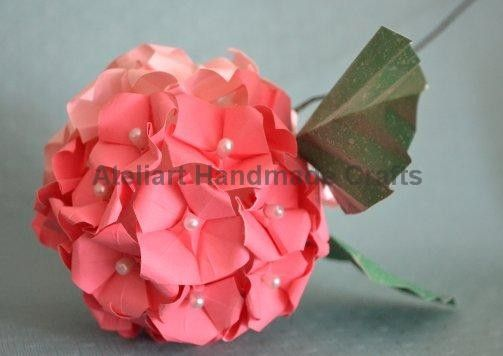 85 best pomander images on pinterest kissing ball wedding origami hydrangea would make a great centerpiece flower for tables i especially like the pearl mightylinksfo Choice Image