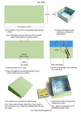 magic boxes: Origami Box with Wrap Lid - Tutorial part 2