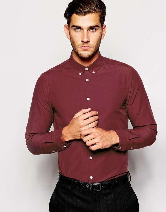 ASOS | Smart Shirt With Long Sleeves And Button Down Collar #asos #buttondown #shirt