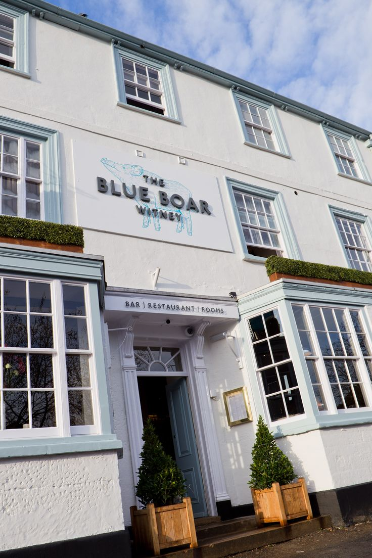 The Blue Boar in Witney is a landmark on the town's historic market square