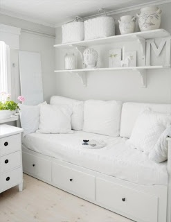 Guest room can add colored throw pillows and paint one of the walls to match.