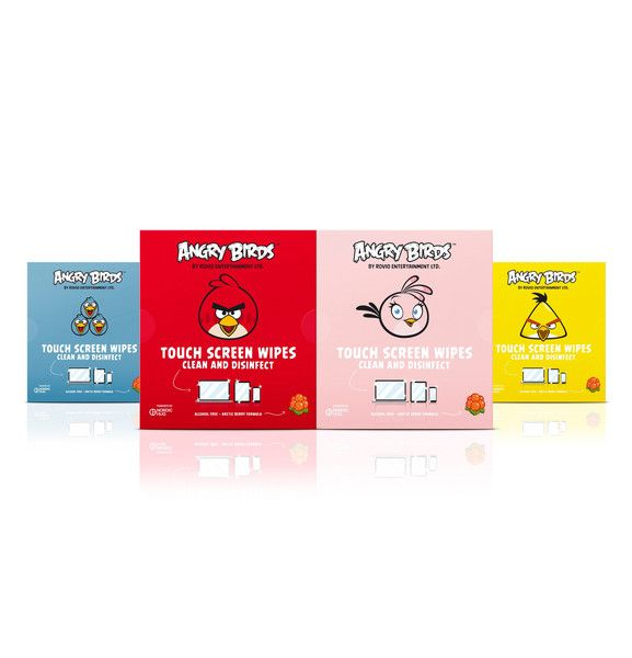 Angry Birds Touch Screen Wipes by Nordic Hug Best solution for your phones and tablets!