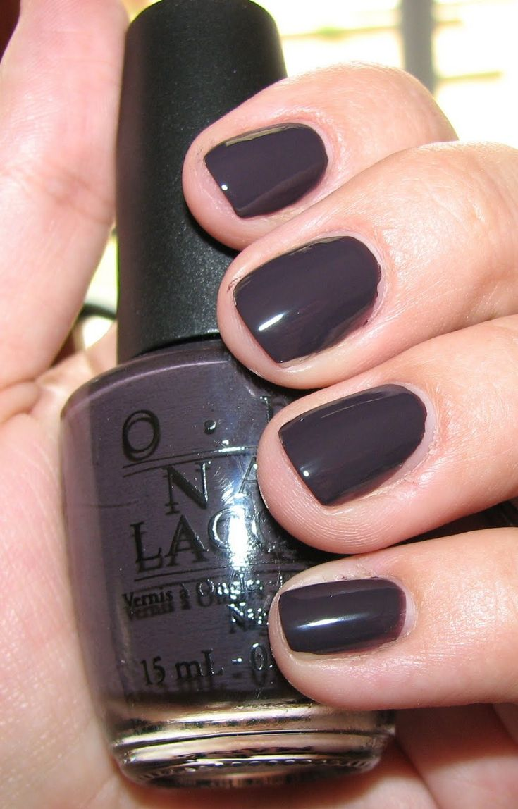 I Brake For Manicures is a dark greyed out plum purple. #creme nail polish / lacquer / vernis, swatch / manicure