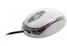 Mini souris optique usb blanc led
