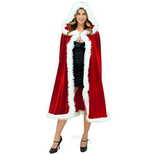 """CHIC-CHIC Noël Mère Déguisement Deluxe Capot Cape Adulte Femme Costume Capuchon: Matière: Velvet Taille unique Longueur: 120cm/47.2"""" Cet…"""