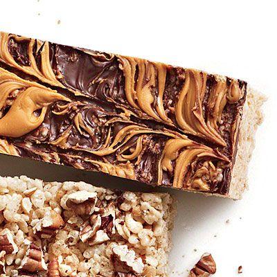 Chocolate Butterscotch Rice Crispy Bars   Just Desserts   Pinterest