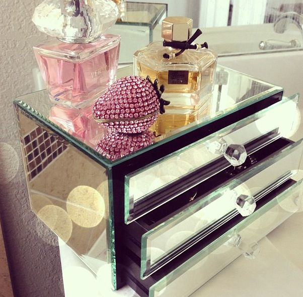 Jewelry chests also provide great storage for smaller makeup items or hair accessories.