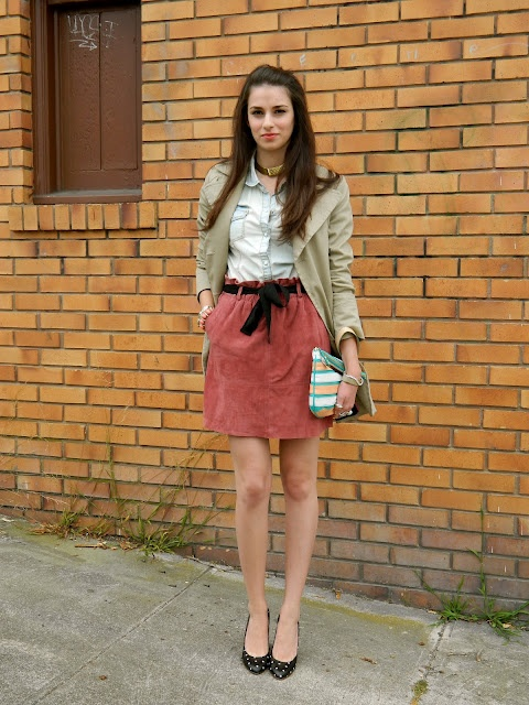 Suede Skirt and Madewell Heels: Shermineh Ghane, Madewell Skirts, Fashion Style, Street Style, Skirts Bi, Style July, Dresses Down Skirts, 2012 Photos, Bi Shermineh