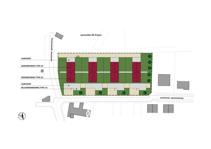 Het project is gelegen in een bestaande verkaveling, bestemd voor het oprichten van 5 eengezinswoningen met een oppervlakte van +/- 1000 m² per perceel. Door het opnieuw opdelen van de verkaveling en het aanbrengen van een nieuwe wegenis achteraan de verkaveling (tussen de woningen en het plaatselijke voetbalveld) kon een hogere dichtheid verkregen worden, die …