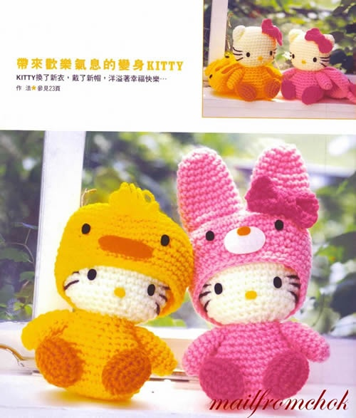 Hello Kitty Toy Knitting Pattern Free : 241 best images about Hello Kitty free crochet pattern on Pinterest Crochet...