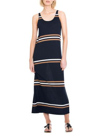Multi Stripe Maxi Dress | David Jones