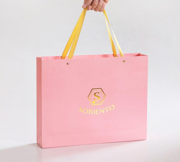 custom luxury Luxury Paper Bag supplier with satin ribbon handle