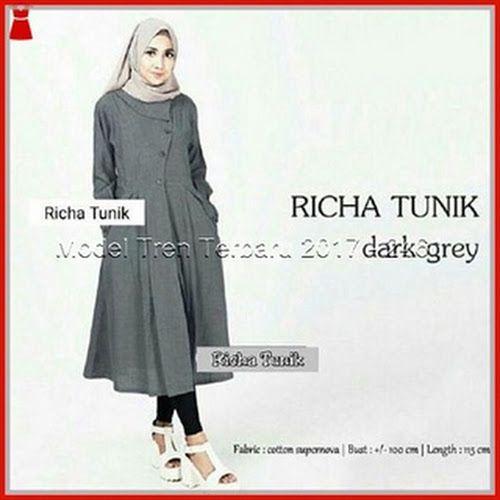 Model22gbb setelan muslim tunik model richa Baju Murah