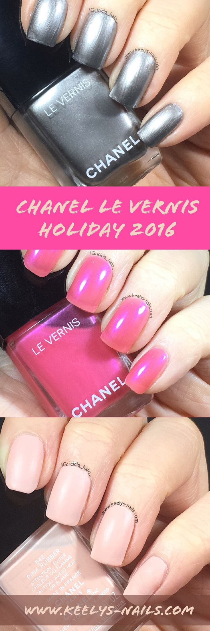 If you are thinking of buying or gifting some Chanel Christmas nail varnish shades this year, check my Chanel Nail Polish Holiday 2016 Swatches first!