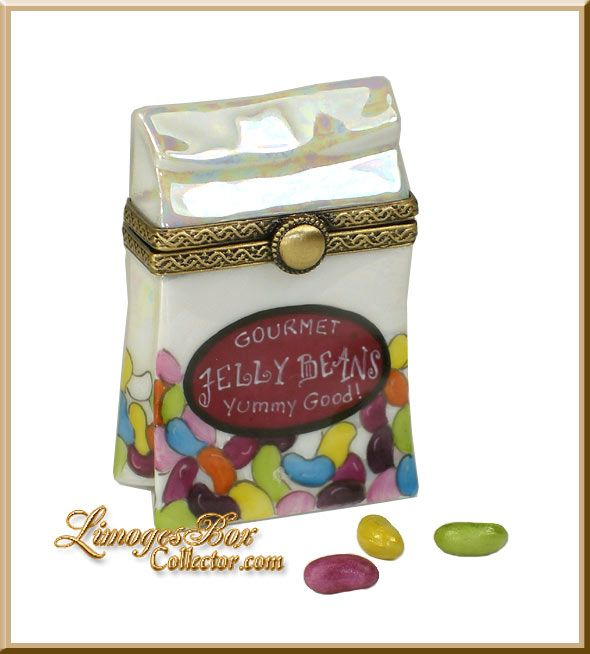 Bag of Gourmet Jelly Beans Limoges box by Beauchamp Limoges www.LimogesBoxCollector.com