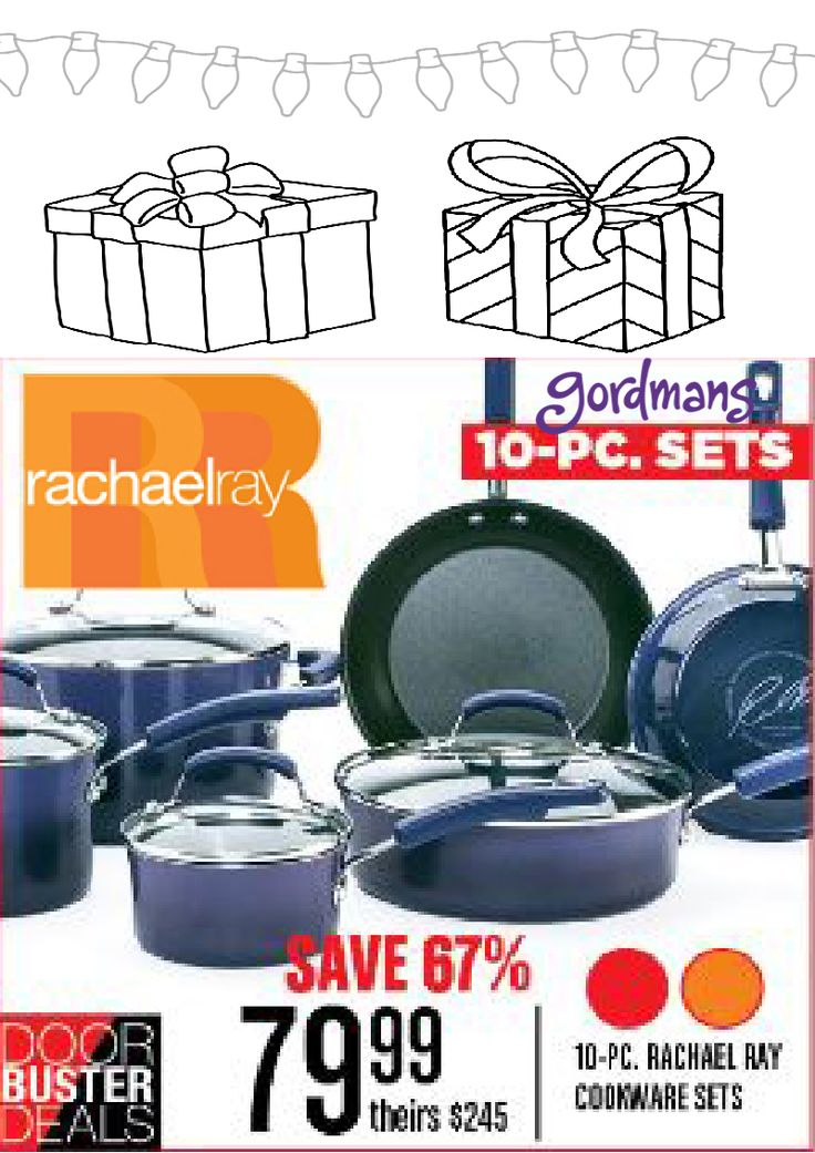 Cook up an amazing Holiday meal in the 10 piece Rachael Ray cookware set! Check out our Black Friday ad online now!