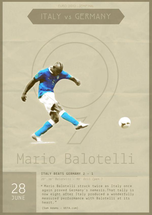 #Balotelli - Euro 2012 Poster by Alessio Massidda, via Behance