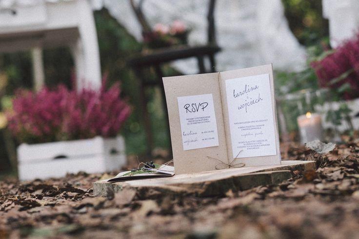 Zaproszenia ślubne - inspirowane naturą