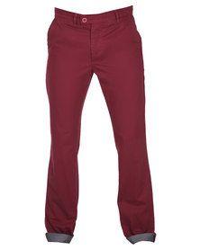 Utopia Chino Pants Red