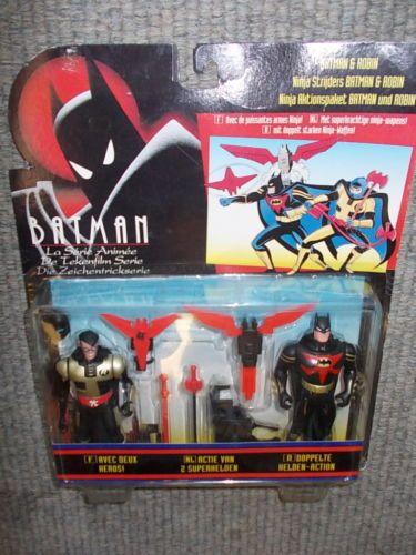 Vintage-of-1994-Kenner-Batman-amp-Robin-Ninja-Wariors-set-Mint-in-blister