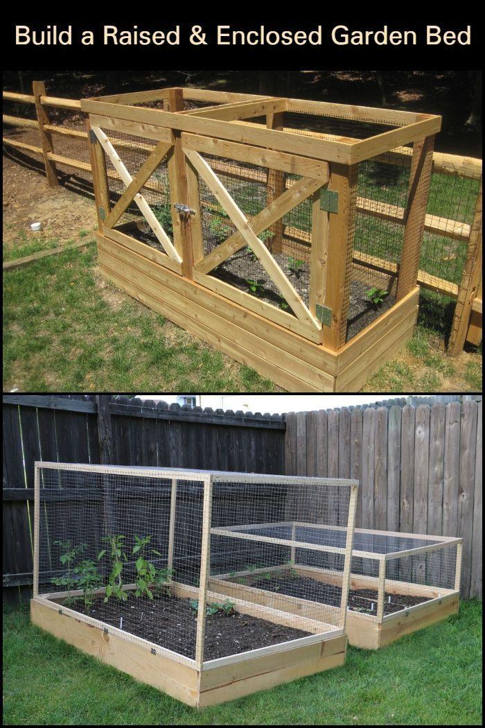 DIY Raised and Enclosed Garden Bed | Garden beds, Enclosed ...