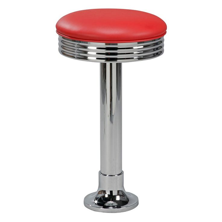 Have to have it. Regal Retro Cafe Bolt Down 30 in. Metal Bar Stool with Upholstered Seat - $178.52 @hayneedle